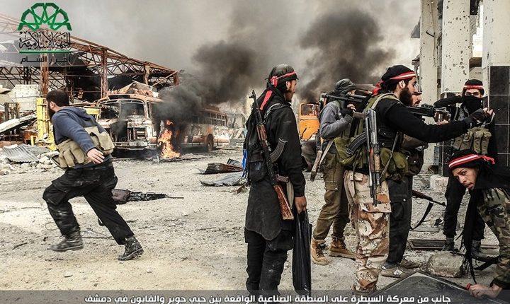 استمرار المعارك العنيفة بجوبر والنظام يحاول وقف تقدم الثوار